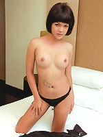 Ladyboy Lesa shows off her solid weapon